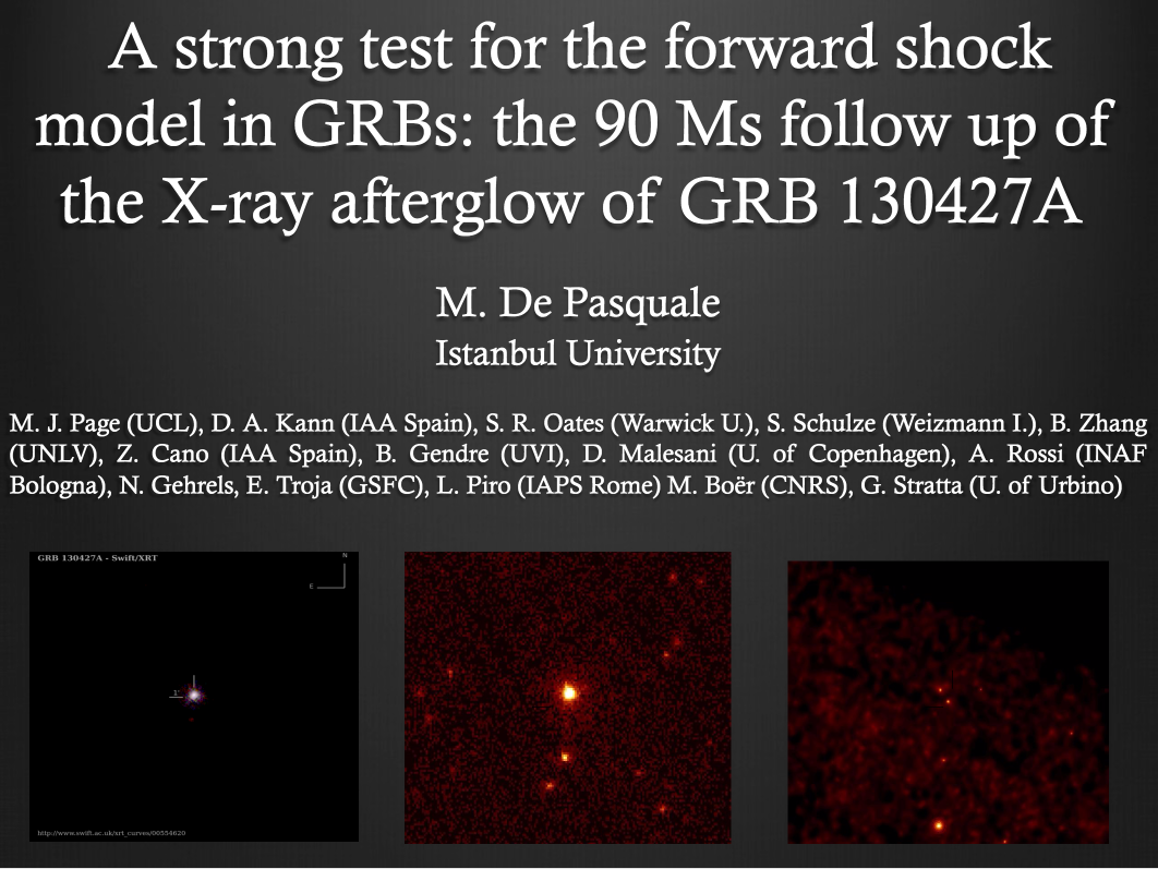 A strong test for the forward shock model in GRBs: the 90 Ms follow up of  the X-ray afterglow of  GRB 130427A