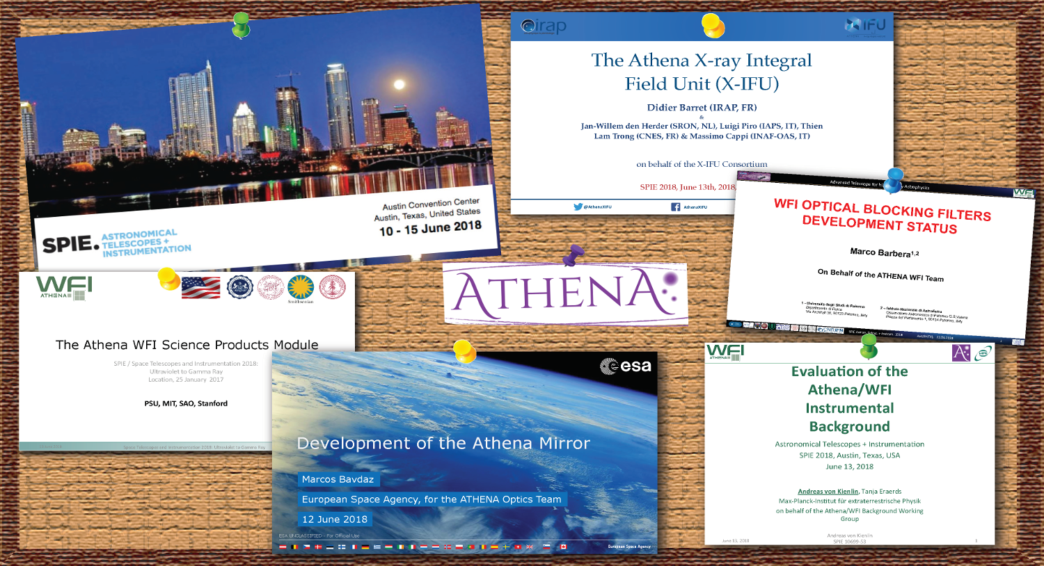 Several sessions on Athena at the 2018 SPIE Astronomical Telescopes and Instrumentation conference