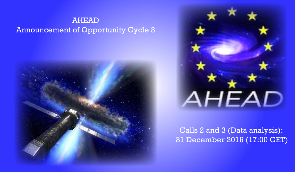 AHEAD Announcement of Opportunity Cycle 3